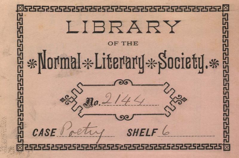 Normal Literary Society Bookplate