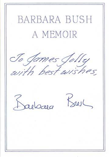 Autographs of First Ladies