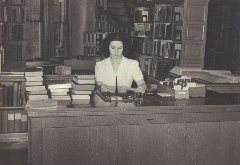 Library interior 1942