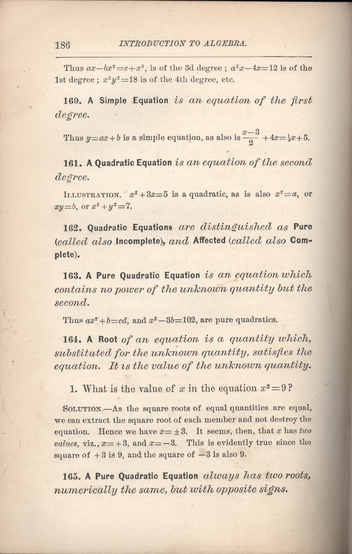 Olney Algebra Introduction