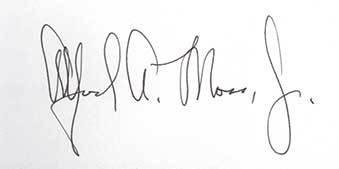 Alfred A. Moss Autograph
