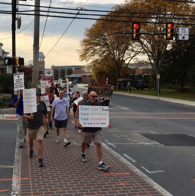 The Walking Picket Line Started By Professor Beth Katz