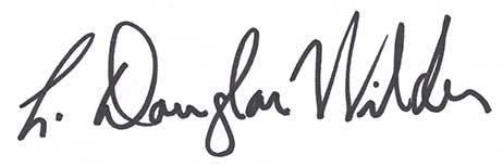 L Douglas Wilder Autograph