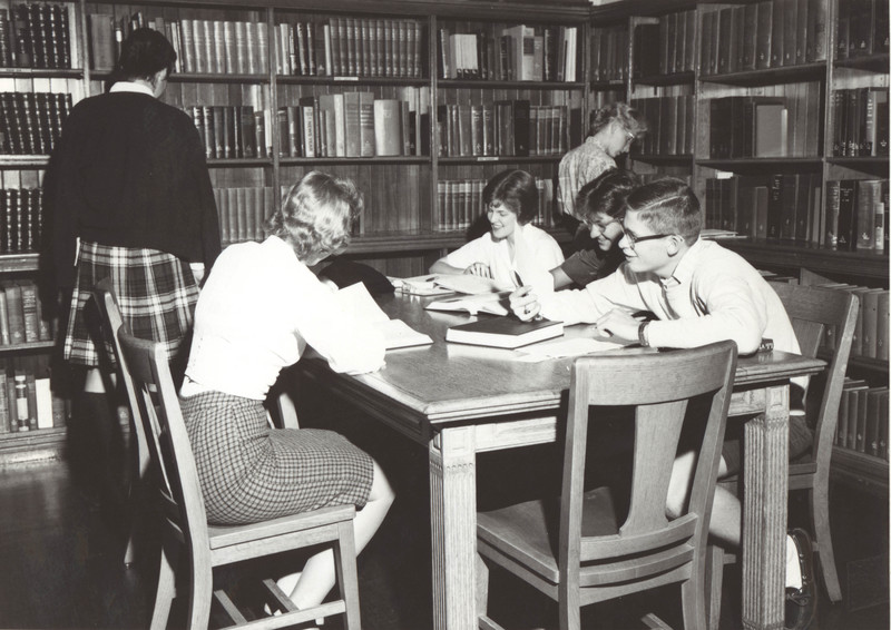 Library interior 1960s
