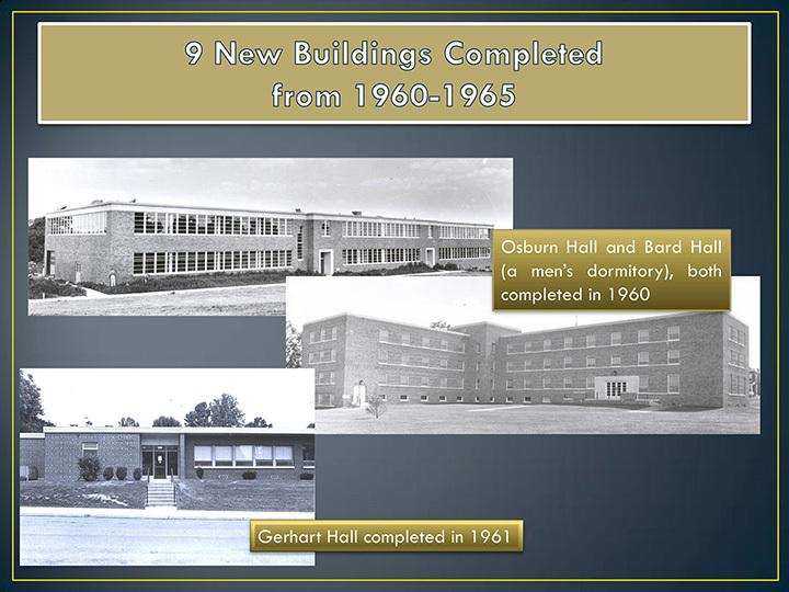 New Buildings, 1960-1961