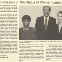 Doris Cross and Women's Commission
