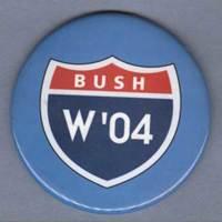 George W. Bush Political Button