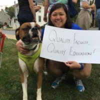 Dr. Carrie Lee Smith and Furry Friend Stand on the Picket Line: Quality Faculty, Quality Education